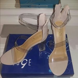 BRAND NEW!! Clear Strapped Heels